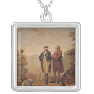 King Frederick II of Prussia Silver Plated Necklace