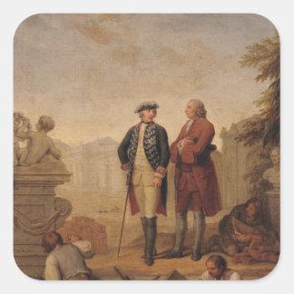 King Frederick II of Prussia Square Sticker