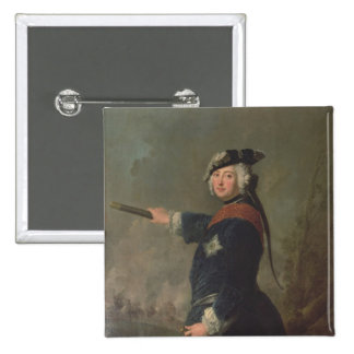 King Frederick II the Great of Prussia  1746 15 Cm Square Badge