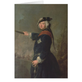 King Frederick II the Great of Prussia  1746 Card