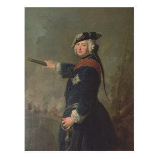 King Frederick II the Great of Prussia  1746 Postcard