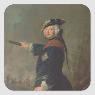 King Frederick II the Great of Prussia  1746 Square Sticker