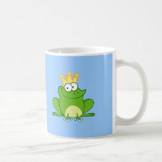 King Frog Frogs Crown Green Cute Cartoon Animal Mug