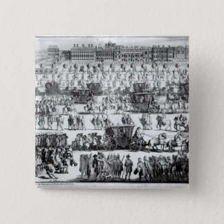 King George I procession to St. James's Palace 15 Cm Square Badge