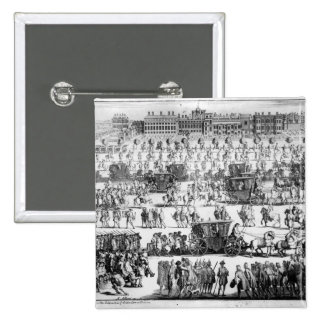 King George I procession to St. James's Palace Pinback Button