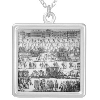 King George I procession to St. James's Palace Silver Plated Necklace