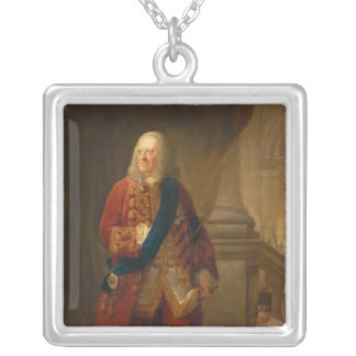 King George II, 1759 Square Pendant Necklace