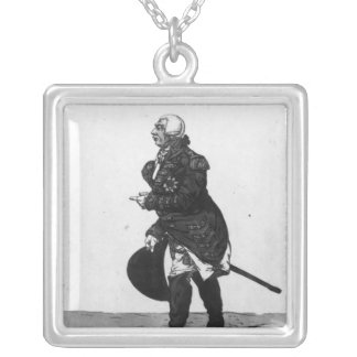 King George III, aged 72, 1810 Silver Plated Necklace