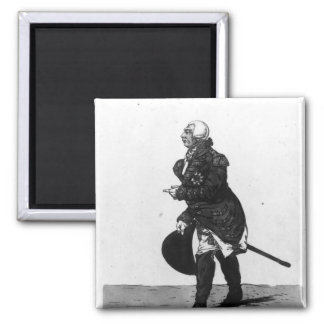 King George III, aged 72, 1810 Square Magnet