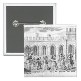 King George III and Queen Charlotte 15 Cm Square Badge