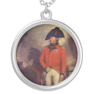 King George III in 1799 by Sir William Beechey Round Pendant Necklace
