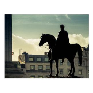 King George IV at Trafalgar Square Post Card