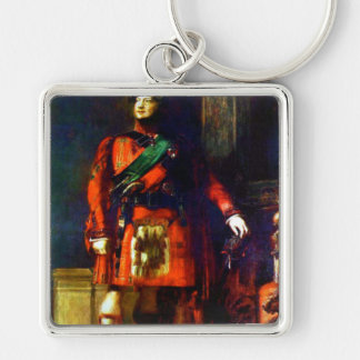 'King George IV Visits Scotland' Silver-Colored Square Key Ring