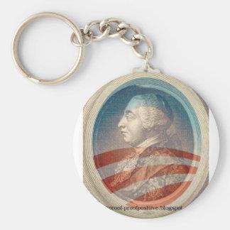 King George Obama III Basic Round Button Key Ring