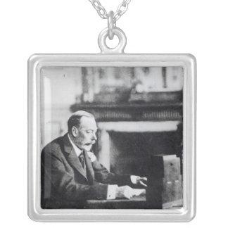 King George V Square Pendant Necklace