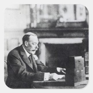 King George V Square Sticker