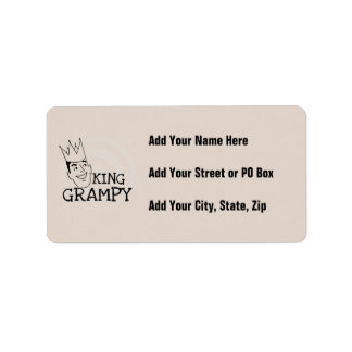 King Grampy Tshirts and Gifts Address Label