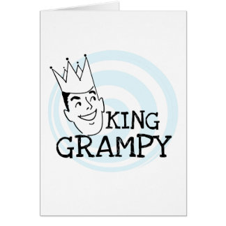 King Grampy Tshirts and Gifts Greeting Card