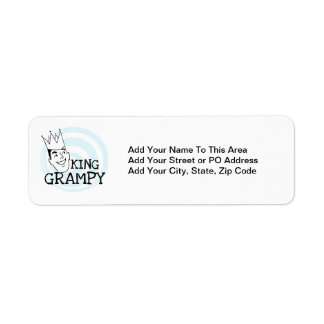 King Grampy Tshirts and Gifts Return Address Label