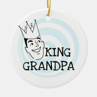 King Grandpa T-shirts and Gifts Christmas Ornament