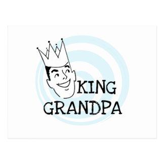 King Grandpa T-shirts and Gifts Postcard