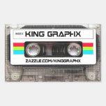 King Graphx Cassette Tape Rectangular Stickers