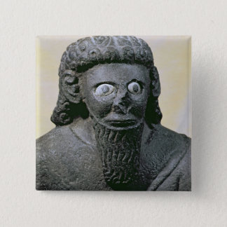 King Hadad, from the Palace at Tell-Halaf, Syria 15 Cm Square Badge