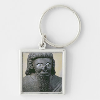 King Hadad, from the Palace at Tell-Halaf, Syria Silver-Colored Square Key Ring