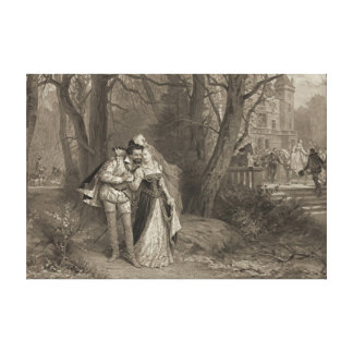 King Henry and Lovely Fosseuse 1885 Canvas Print