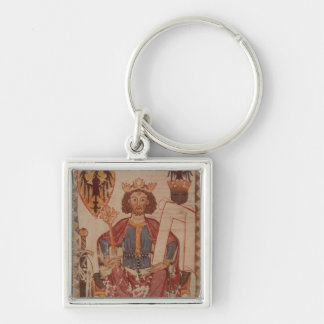 King Henry, illustration from the Manasse Silver-Colored Square Key Ring