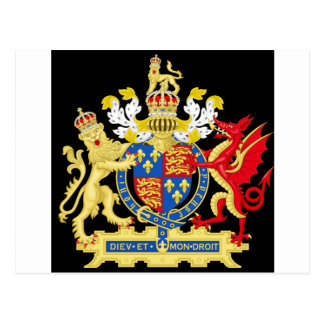 KING HENRY THE EIGHTH COAT OF ARMS POSTCARD