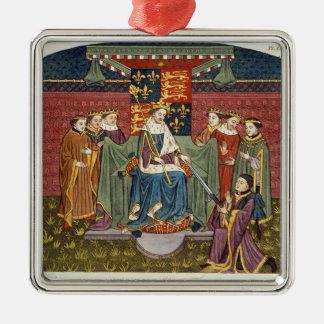 King Henry VI (1421-71) presenting a sword to John Christmas Ornament