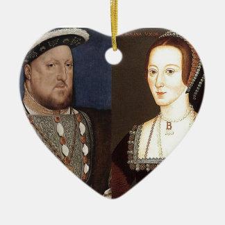 King Henry VIII and Anne Boleyn Christmas Tree Ornament