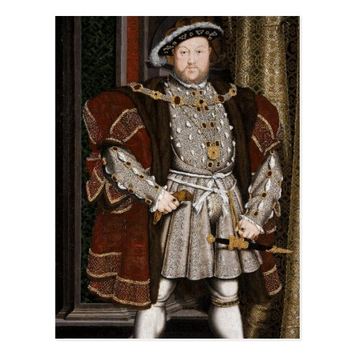 King Henry VIII of England Post Card