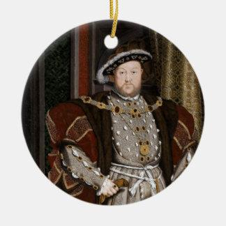 King Henry VIII of England Round Ceramic Decoration