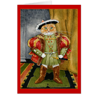 King Henry VIII royal cat birthday greeting card