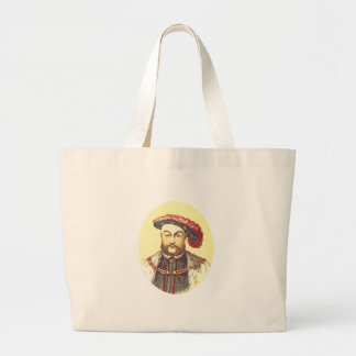 King Henry VIII, the Eight, 8th Large Tote Bag