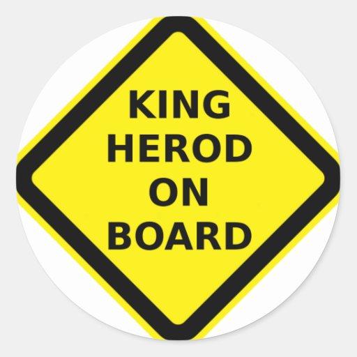 King Herod on Board Stickers