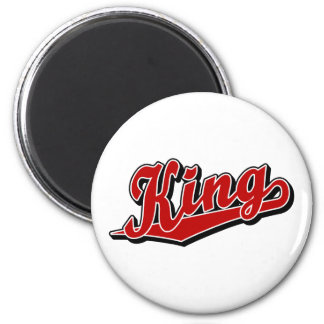King in Red 6 Cm Round Magnet
