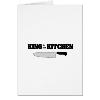 King in the Kitchen Horizontal Chef's Knife Greeting Card