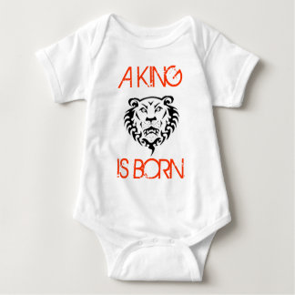 KING IS BORN BABY BODYSUIT