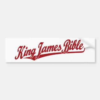 King James Bible Script Logo in red Bumper Sticker