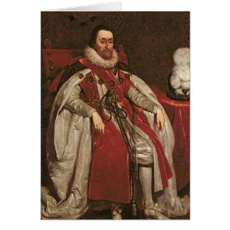 King James I of England and VI of Scotland, 1621 Greeting Card