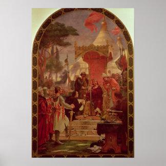 King John Granting the Magna Carta in 1215, 1900 Poster
