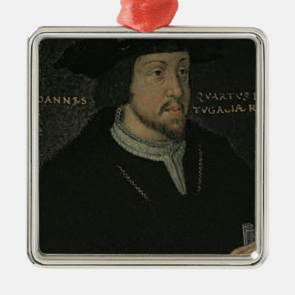 King John I 'the Great', or 'the Bastard' Silver-Colored Square Decoration