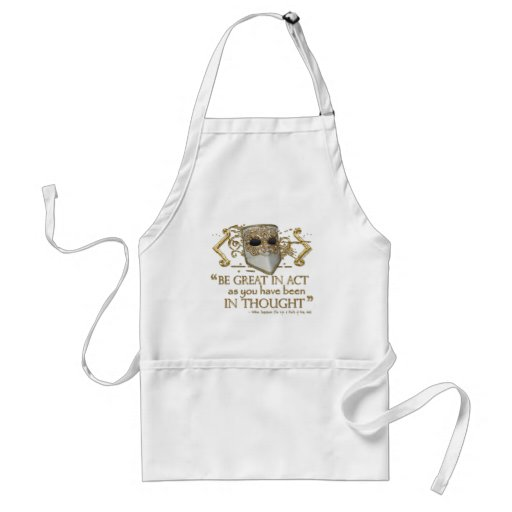King John Quote (Gold Edition) Apron