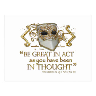 King John Quote (Gold Edition) Postcard