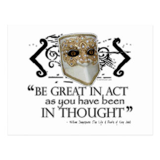 King John Quote Post Card
