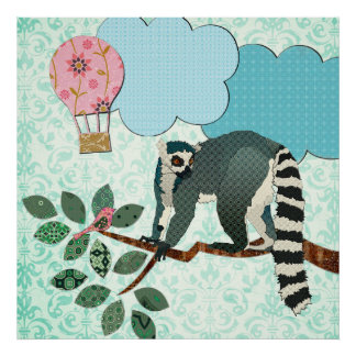 King Jules Out On A Limb Damask Poster