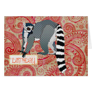 King Julian Red Boho Birthday  Card
